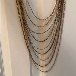 Silver and Gold Chain Necklace.